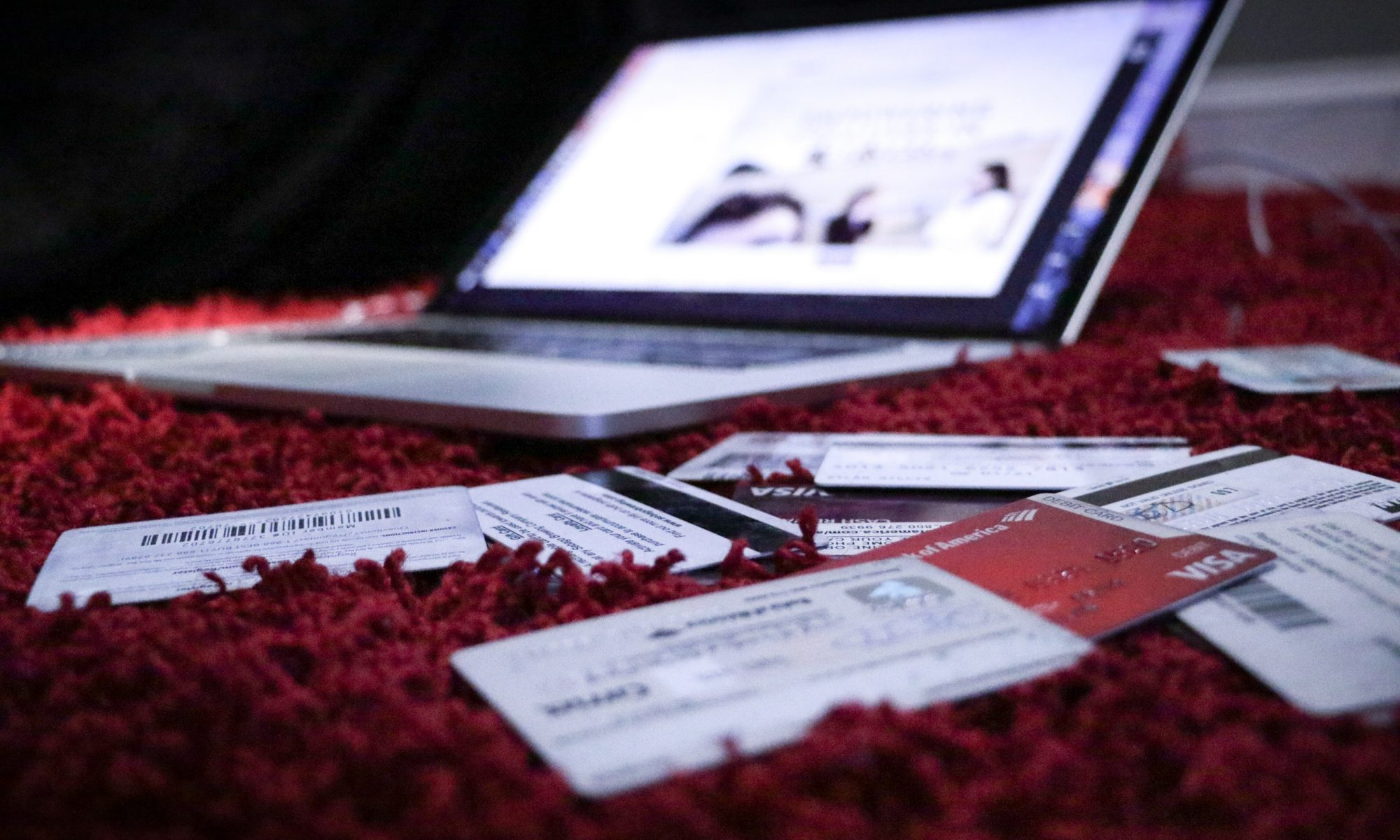 laptop and credit cards